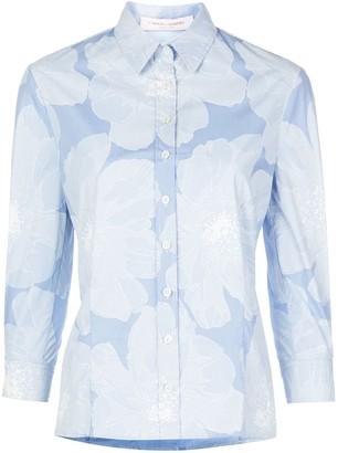 Carolina Herrera Floral Print Checked Shirt