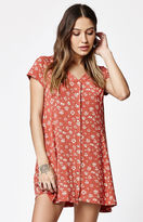 Obey Bella Flora Print Button-Front Dress