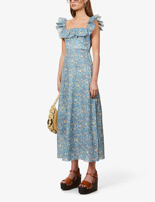 Zimmermann Carnaby floral-print linen maxi dress