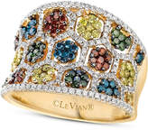 LeVian Le Vian Mixberry Diamond Concave Ring (1-3/8 ct. t.w.) in 14k Honey Gold