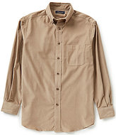 Roundtree & Yorke Casuals Long Sleeve Solid Corduroy Sportshirt