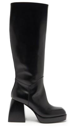 Nodaleto Bulla Knee-high Leather Platform Boots - Black