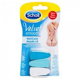 Scholl Velvet Smooth Nail Care Heads 3 pack
