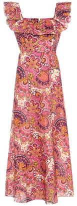 Zimmermann Carnaby floral linen dress