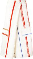 Ports 1961 striped wrap trousers