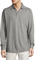 Peter Millar Katsura Cotton-Silk Long-Sleeve Polo Shirt