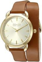 SO & CO New York Women's 5086.2 SoHo Analog Display Quartz Brown Watch