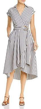 Marella Caravan Striped Wrap Dress