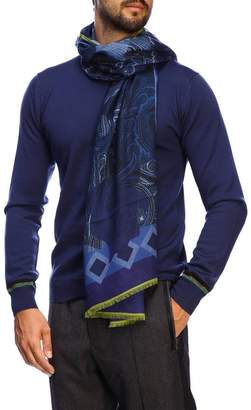 Etro Scarf Scarf In Modal And Cashmere With Paisley Pattern