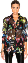 Anthony Vaccarello Multi Flower Print Classic Shirt