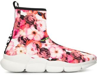 MSGM Floral Print Sneakers