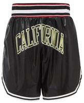 Faith Connexion California Faux-leather Basketball Shorts - Mens - Black