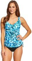 Maxine Wild Side Side Shirred Underwire Tankini Top (D/DD Cup) 8150304