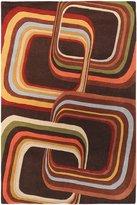 Surya FM7007 Forum Contemporary Hand Tufted 100% Wool Brown Rug (2-Feet x 3-Feet )