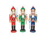 Asstd National Brand 15 Bejeweled King Nutcrackers- Set of 3