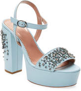 RED Valentino Women's Leather Studs High Heel Sandal