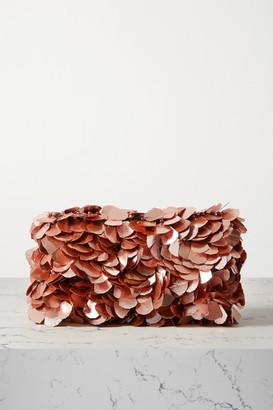 Dries Van Noten Envelope Embellished Velvet Clutch - Pink