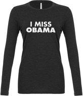 Indica Plateau Womens I Miss Obama Long Sleeve T-Shirt
