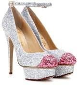 Charlotte Olympia Kiss Me Dolores! glitter platform pumps