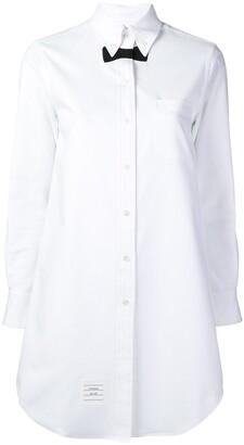 Thom Browne Trompe L'Oeil tie pique shirtdress