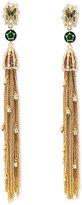 Alexis Bittar Cascading Golden Tassel Clip-On Earrings