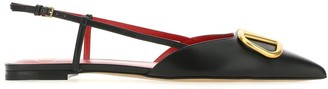 Valentino VLogo Slingback Flat Shoes