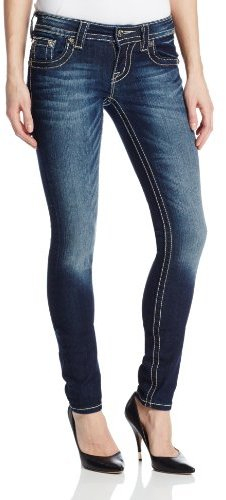 Miss Me Embroidered Embellished Cross Skinny Jean