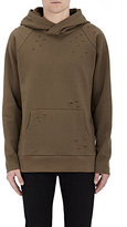 Barneys New York MEN'S DISTRESSED FLEECE HOODIE