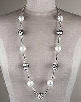 Art Deco Pearl & Enamel Necklace