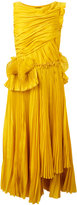 Rochas pleated flared dress