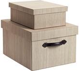 Container Store Latte Parker Closet Boxes
