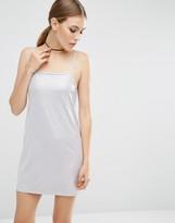 Asos Metallic Slinky Cami Slip Mini Dress
