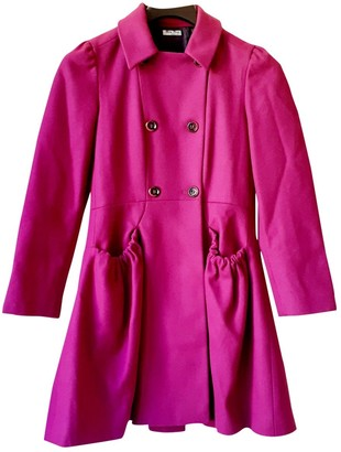 Miu Miu Pink Wool Coat for Women