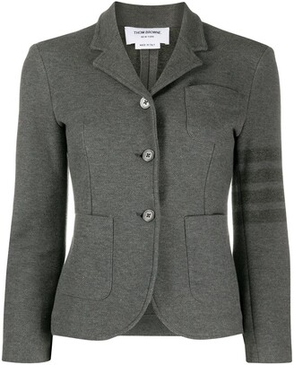 Thom Browne Sport Coat w/ 4 Bar in Double Face Tech Twill