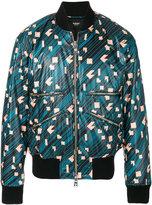 Versus geometric print bomber jacket