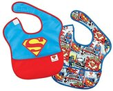 Bumkins DC Comics Super Bib, Superman Icon, 6-24 Months, 2 Pack by