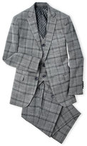 Isaac Mizrahi Boys 8-20) 3-Piece Electric Plaid Wool-Blend Suit