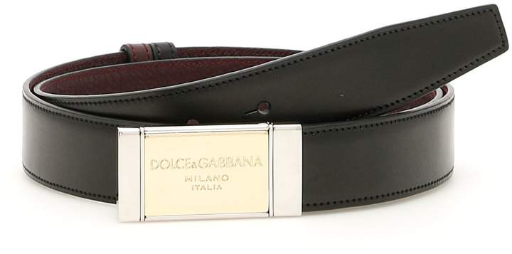 Dolce & Gabbana Reversible Bicolor Belt