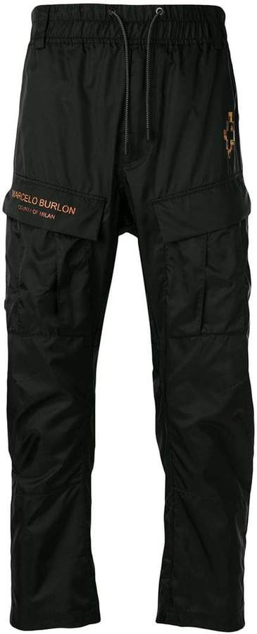 Marcelo Burlon County of Milan Fire Cross track trousers
