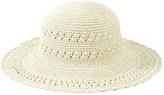 San Diego Hat Company Women's Cotton Crochet Hat Large Brim CHL1