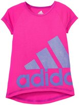 adidas Neon Drop Tail Raglan (Toddler/Kid) - Medium Pink - 6