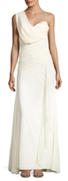 Nicole Miller Georgette Draped Front Gown