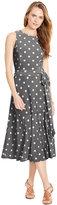 Lauren Ralph Lauren Petite Polka-Dot-Print Pull-On Dress