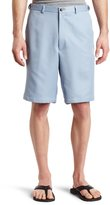 Haggar Men's Big-Tall Cool 18 Expandable Waist Plain Front Solid Gabradine Short