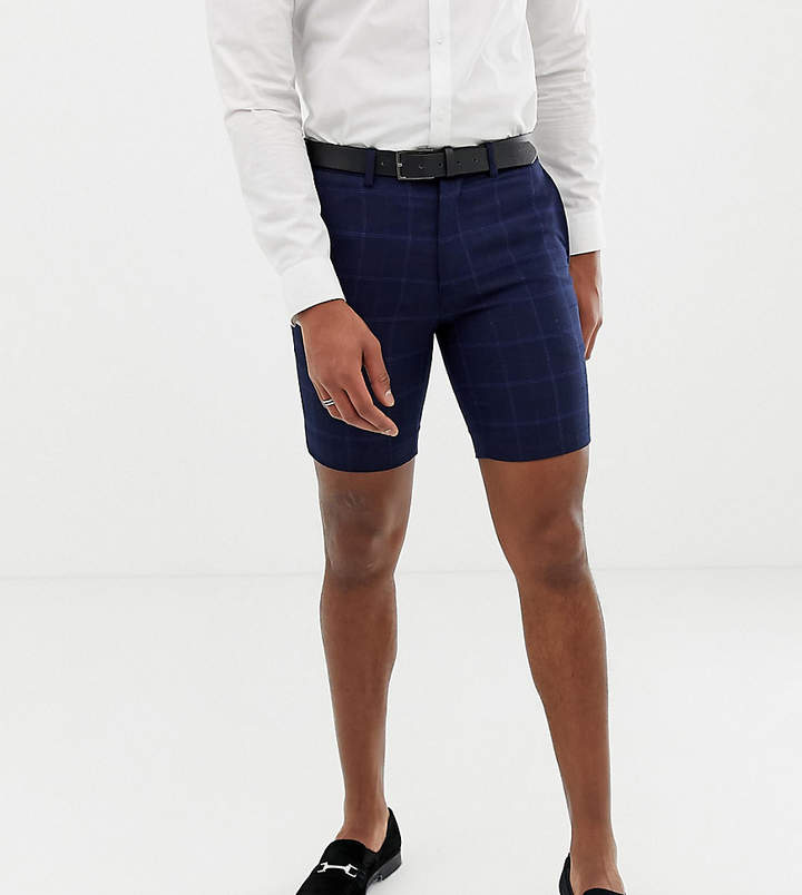 ONLY & SONS Skinny Shorts In Textured Check