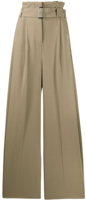 Burberry Paperbag-Waist Wide-Leg Trousers