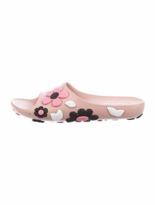 Prada Floral Print Slides Pink