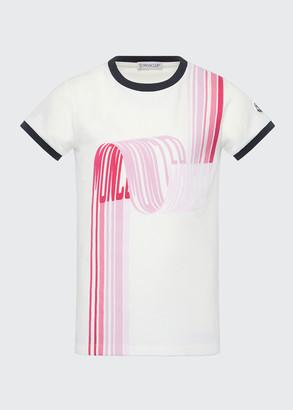 Moncler Girl's Short-Sleeve Scribbled Logo T-Shirt, Size 4-6