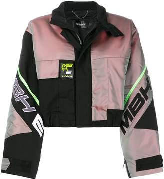 Misbhv cropped racing style bomber jacket