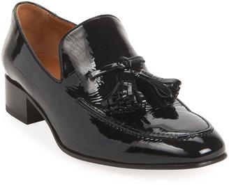 Loewe Pom Pom Patent Loafers